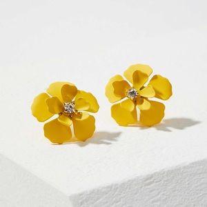 LOFT | Blossom Stud Earrings, Yellow